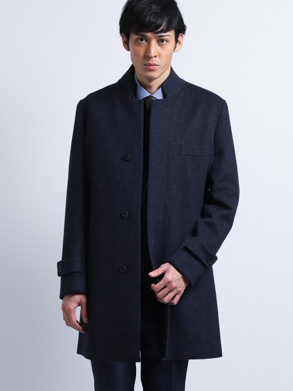 レノマ オム/renoma HOMME カシミアアンゴラ変形チェスターコート 紺