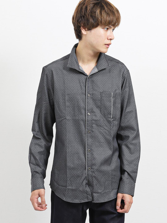ドビードット イタリアンカラー長袖シャツ