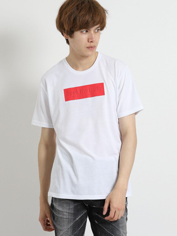 ライトフォース/LIGHTFORCE 発砲BOXロゴ クルーネック半袖Tシャツ