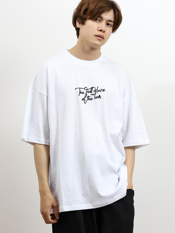 サガラ刺繍アーチロゴBIG半袖Tシャツ