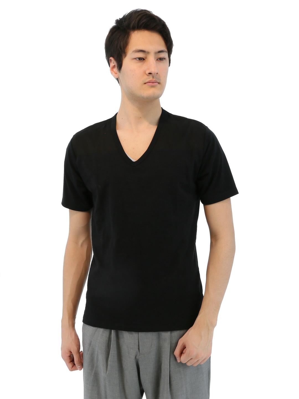 SHELLAC ヨーク切替デザインTシャツ