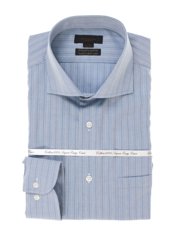 綿100% 形態安定 スリムフィットカッタウェイ長袖SHUTOシャツ