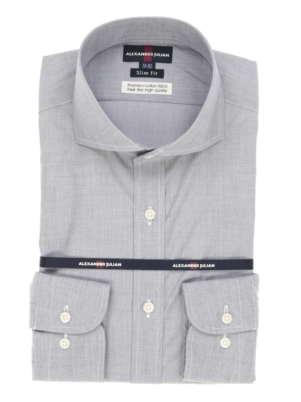 綿100%100双形態安定スリムフィットテープ縫製カッタウェイシャツ