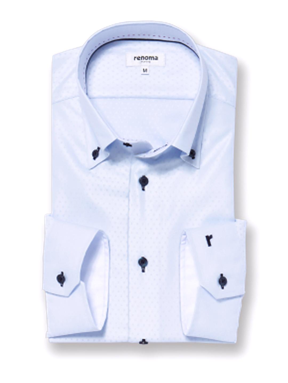 アイスカプセル形態安定レギュラーフィット ボタンダウン7分袖シャツ
