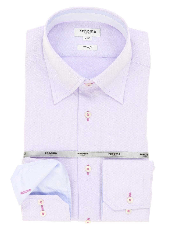形態安定スリムフィットスナップダウンシャツ