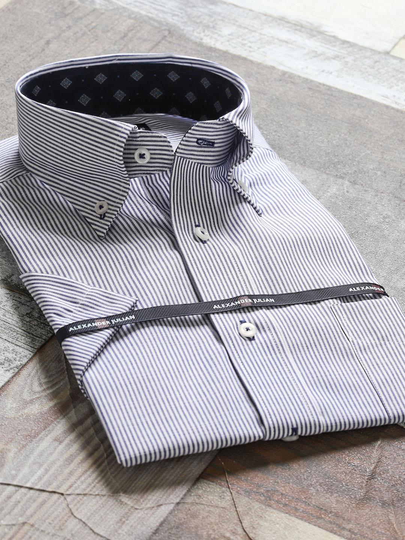 メンソールコットン レギュラーフィットボタンダウン半袖シャツ