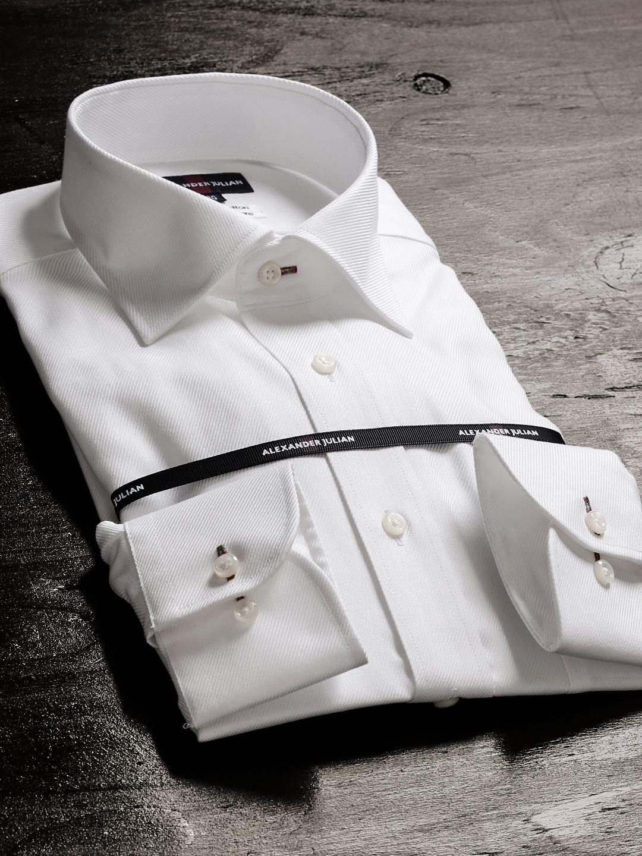 形態安定80双レギュラーフィットワイドカラー長袖シャツ