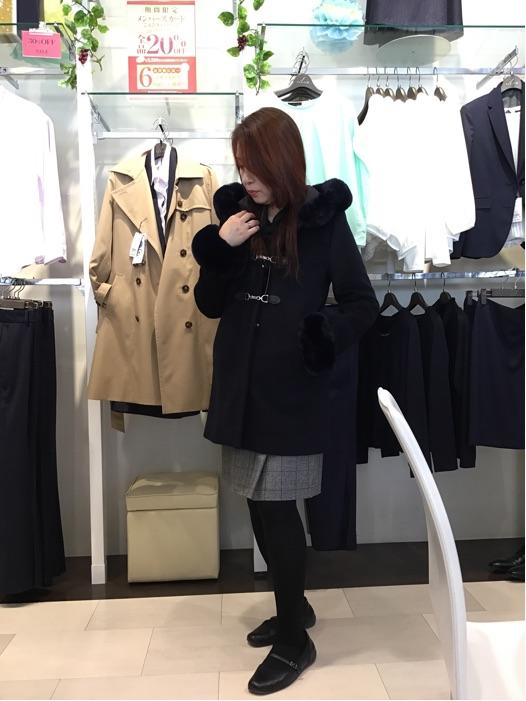 暖かいコートで♪