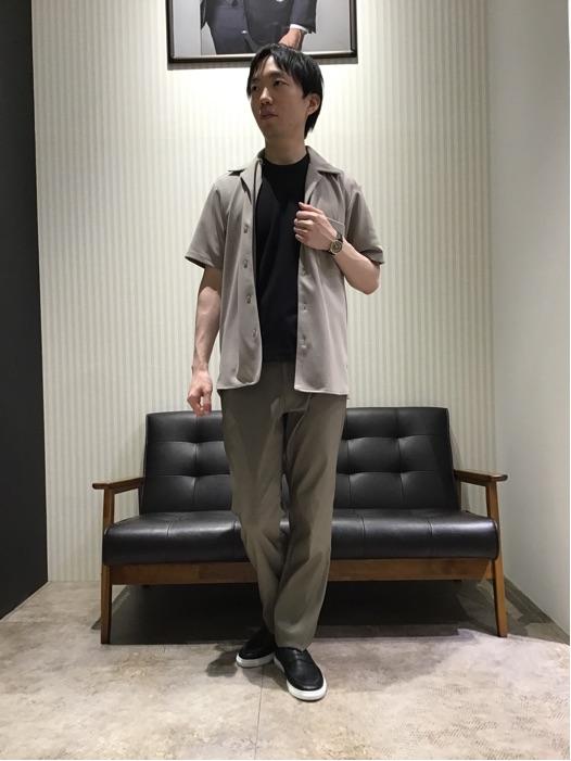 【夏の新作オープンカラーシャツで快適コーデ】 タカキュー高岡店