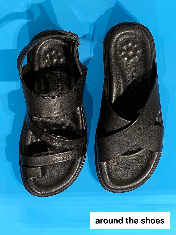 around the shoes レザーサンダル