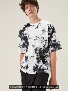 【BRING】BRANDALISED × BRING  Flower Bomber クルーネック半端袖Tシャツ