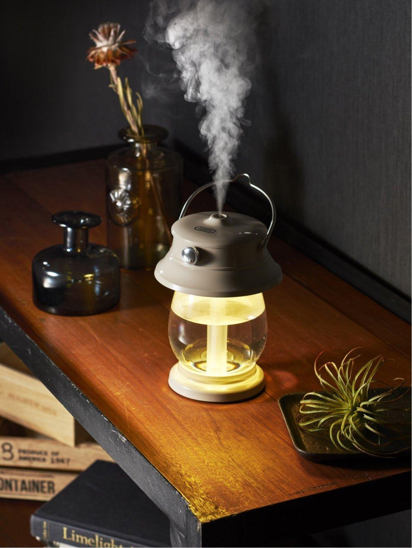 toffy LEDランタン加湿器 ライトグレー