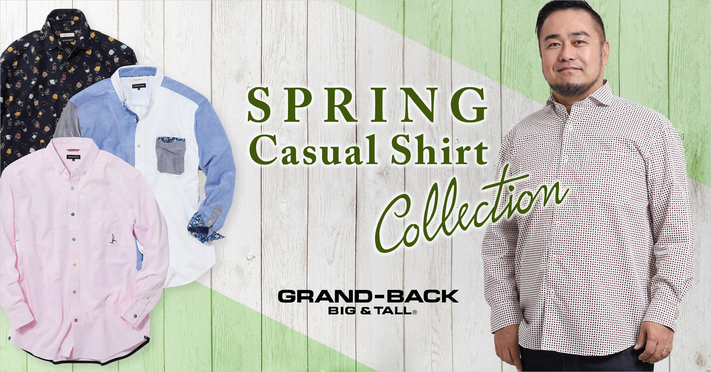 GRAND-BACK Spring Casual Shirt