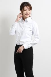 形態安定レギュラーカラー長袖シャツ