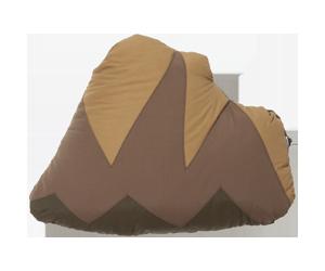 CUSHION BLANKET MOUNTAIN BLACK