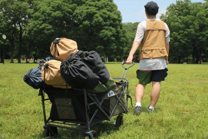 外遊びの荷物運びはお任せ。60/40クロスを使用しており、耐久性・防汚性は◎