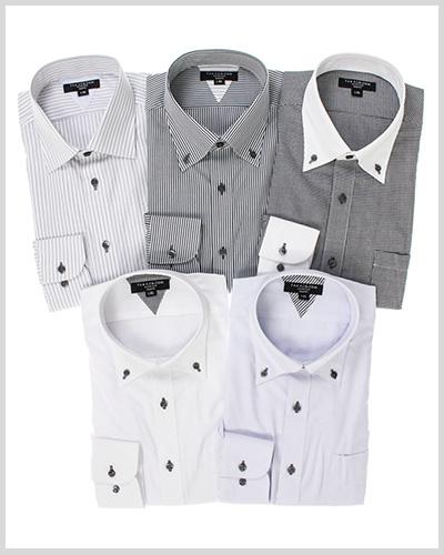 長袖ドレスシャツ5枚セット