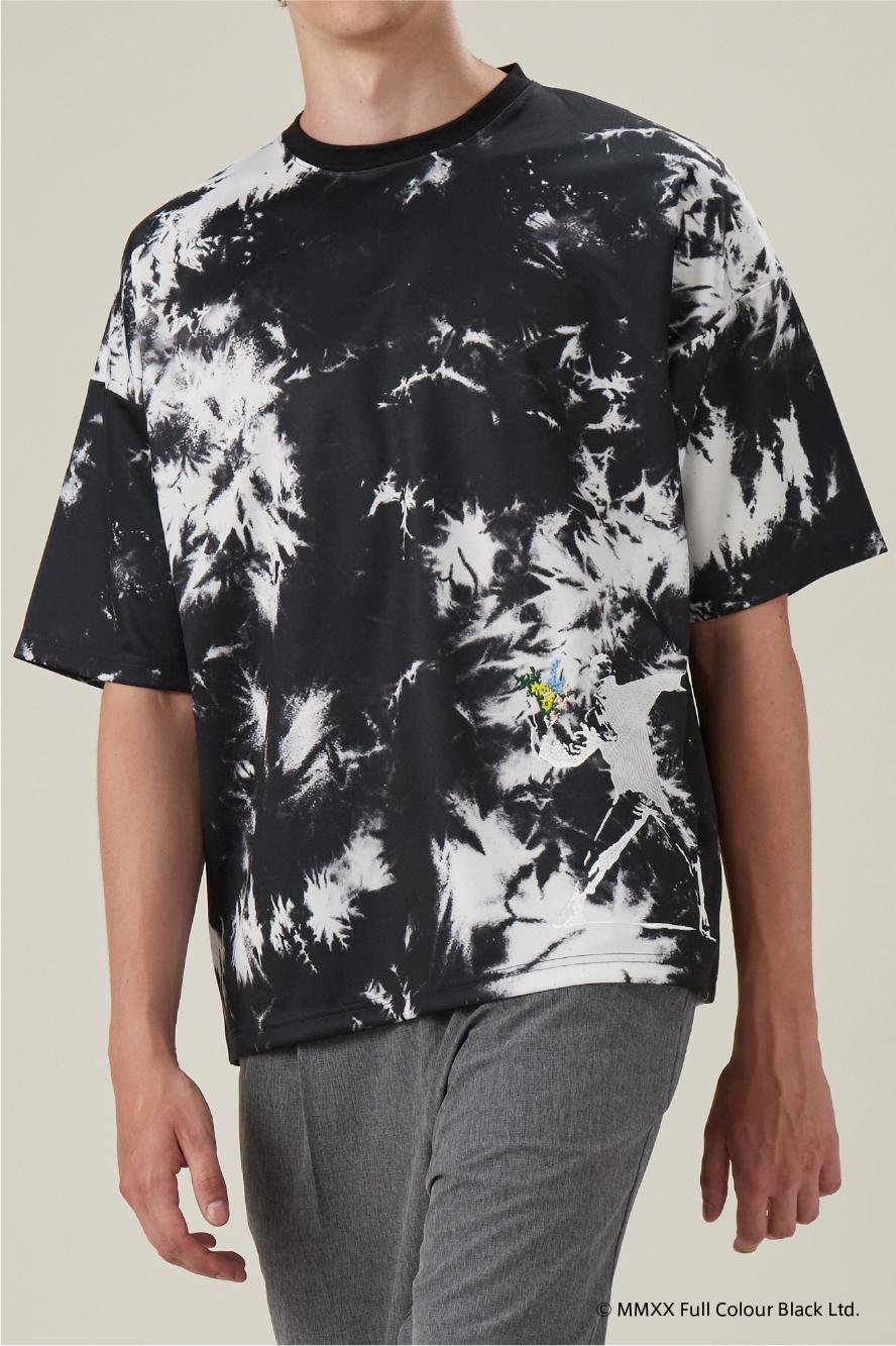 総柄半端袖Tシャツ