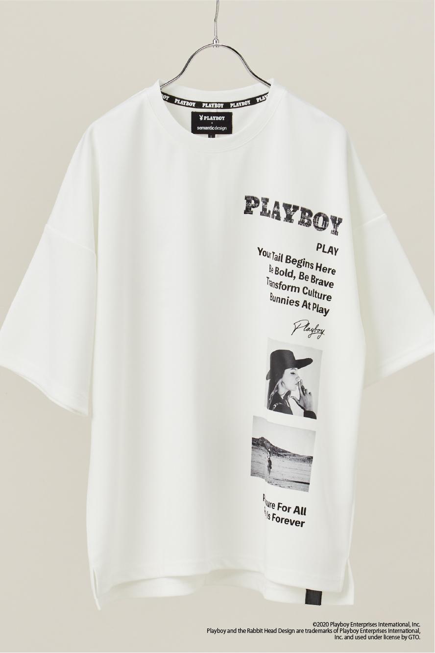 フォト&ロゴ半端袖Tシャツ
