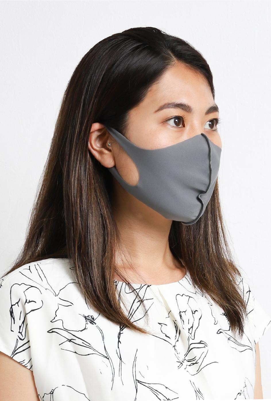 水着素材マスク カラー グレー(同色3枚セット)