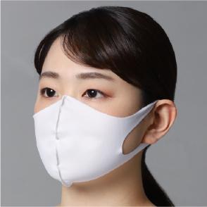 水着素材マスク(裏地付き)3枚セット 白