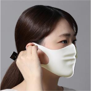 水着素材マスク(裏地無し)3枚セット 白