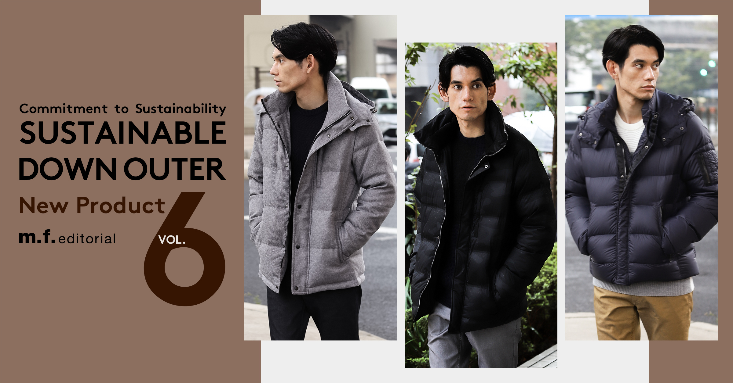 m.f.editorial(エム・エフ・エディトリアル) Sustainable Down Outer