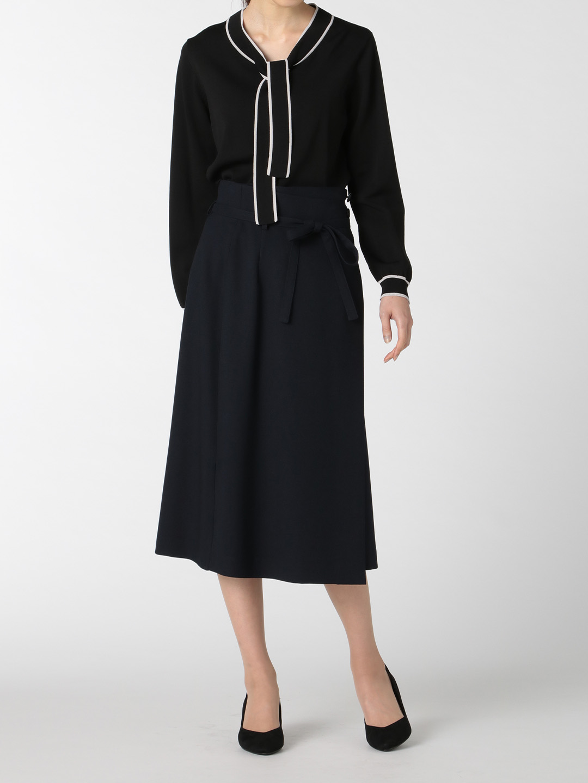 ウーリッシュ セットアップ フレアースカート 紺