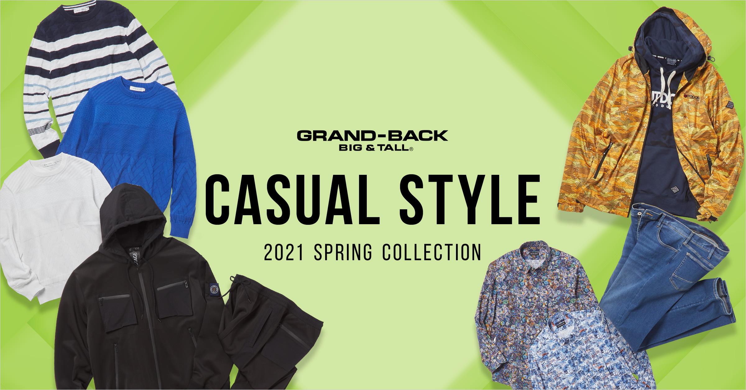 GRAND-BACK (グランバック) 2021 Spring Casual style(2021 スプリング カジュアルスタイル)